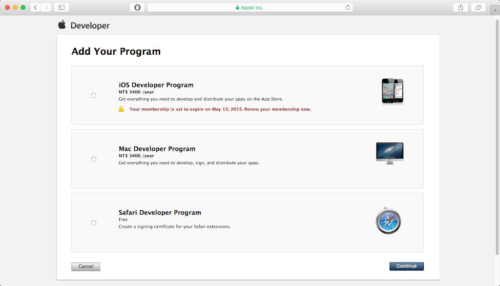Renew membership - Browser Page 2