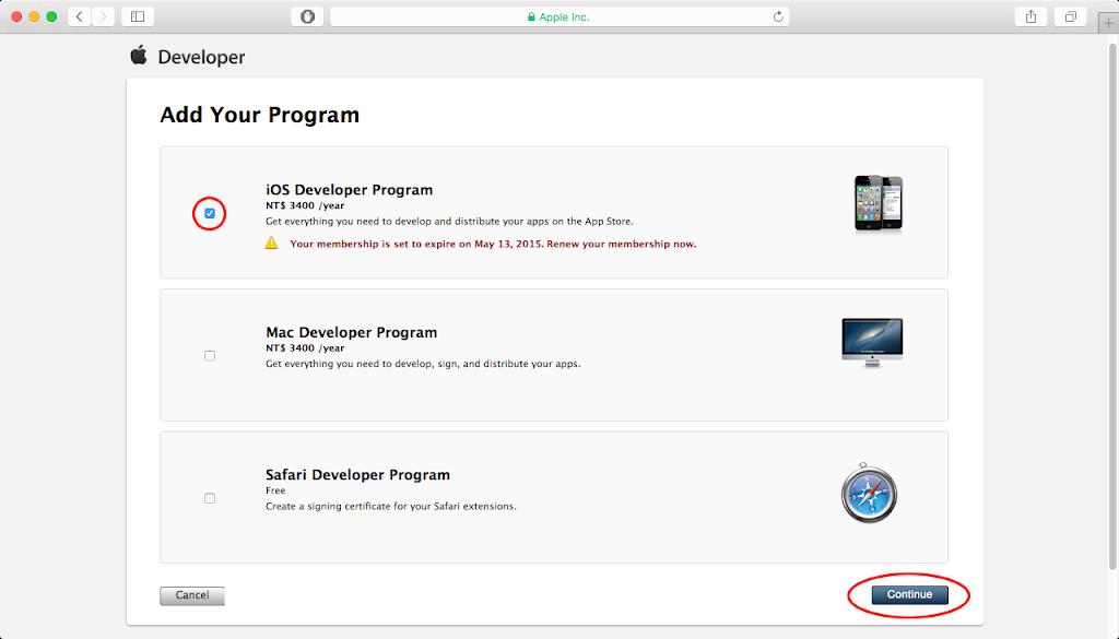 Renew membership - Browser Page 3