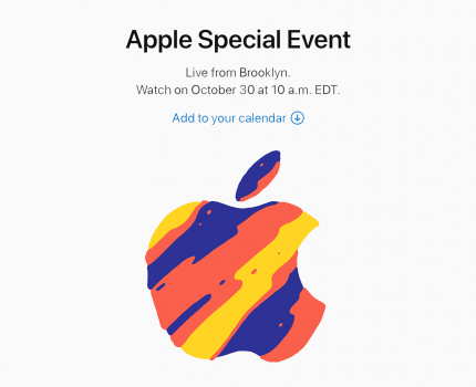 Apple Special Event. October 30, 2018.